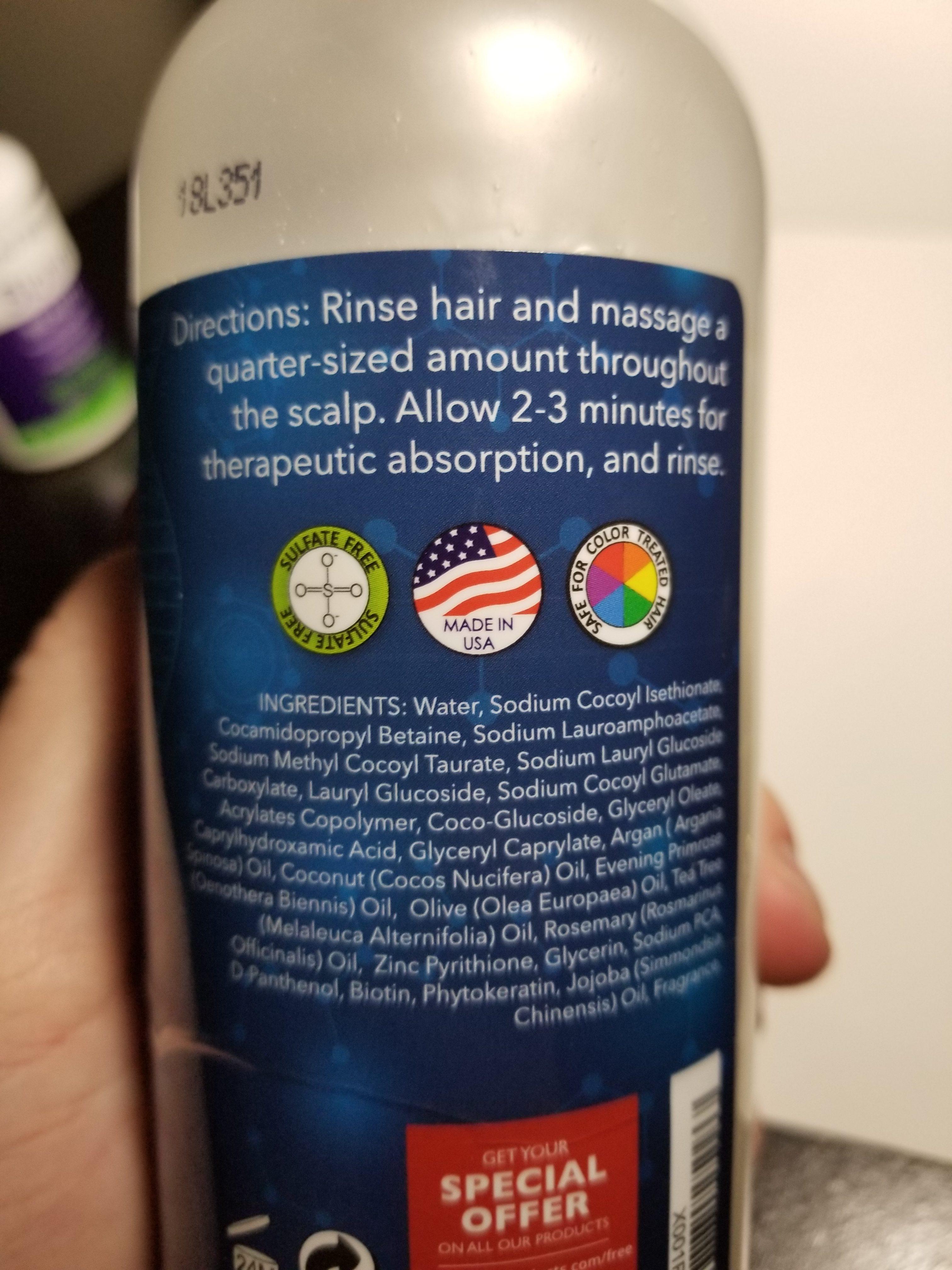 biotin shampoo ingredients